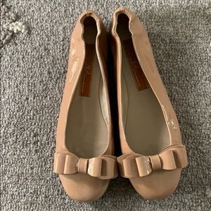AGL patent bow ballet flats